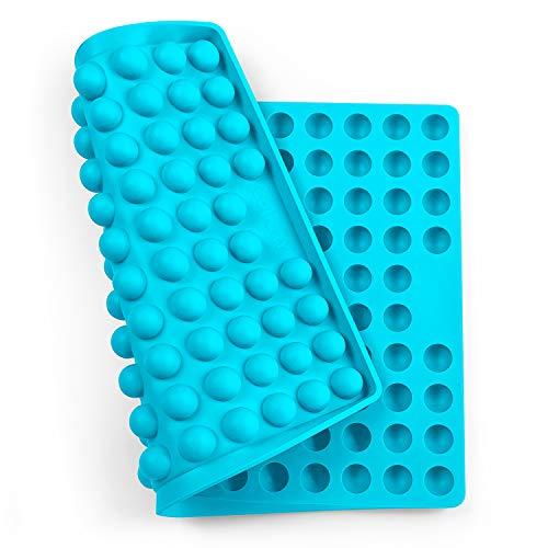 Collory Silikon Backmatte | 2cm Halbkugel Backform Hundekekse Hundeleckerlies | Backpapier | Backunterlage | Pralinenform | Hitzebeständig & Antihaftend | Lebensmittelecht