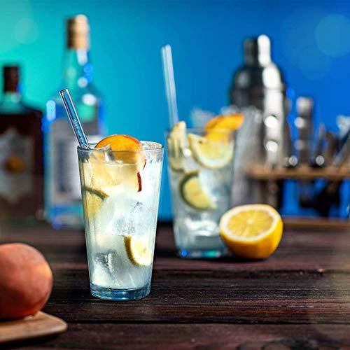 Halm Glasstrohhalme Gin Sprüche Edition 6X 20cm mit gravierten Gin-Sprüchen in Deutsch Strohhalm Trinkhalm Glasstrohalm Gin-Tonic Geschenk - 3