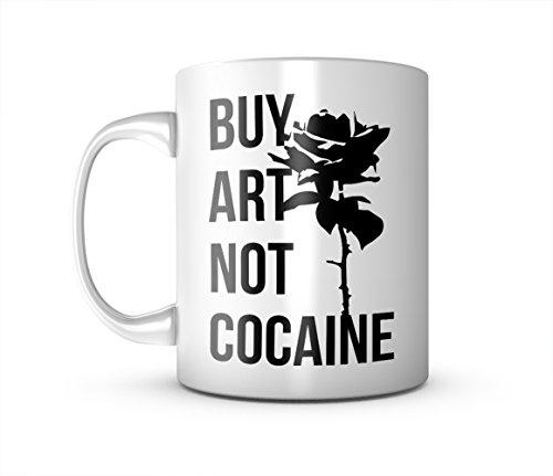 Buy Art Not Cocaine Keramik Tasse Kaffee Tee Becher Mug