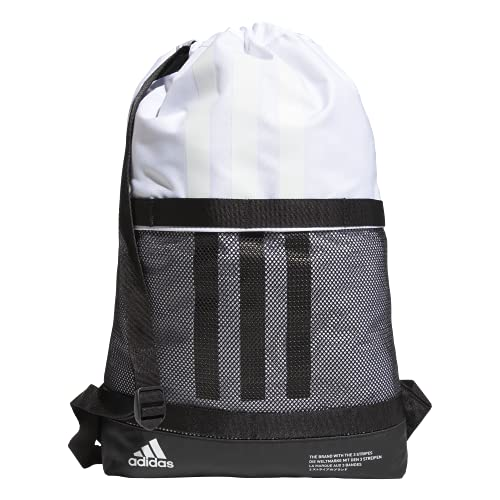 adidas Amplifier II Blocked Sackpack, White/Black, One Size