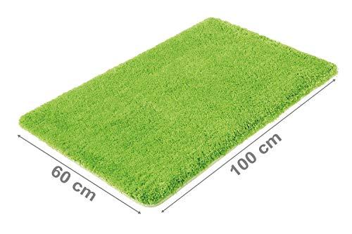 PANA Flauschige Hochflor Badematte in versch. Farben und Größen | Badteppich aus weichen Mikrofasern - rutschfest & waschbar | Duschvorleger 60 x 100 cm