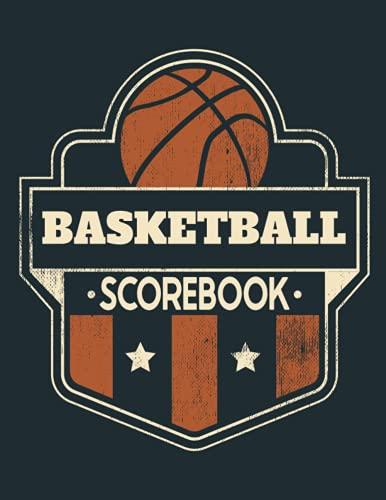 Basketball Scorebook: Game Record Book, Basketball Statistics Tracker, Dark Blue Cover
