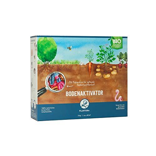 Plantura Bio Bodenaktivator mit 3 Monate Langzeit-Wirkung, 3 kg, staubarmes Granulat, unbedenklich für Haustiere, tierfreundlich, Langzeitdünger