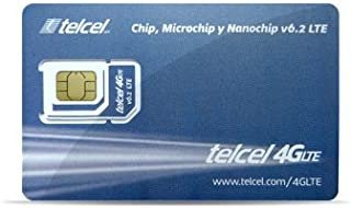 Telcel Mexico Prepaid SIM Card with 3GB Data and Unlimited Calls and SMS Universal SIM