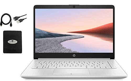"""2021 HP 14"""" HD Laptop for Business and Student, AMD Ryzen3 3250U (up to 3.5 GHz), 16GB RAM, 1TB HDD+128GB SSD, Ethernet, Webcam, WiFi, Bluetooth, HDMI, Fast Charge, Win10, w/Ghost Manta Accessories"""