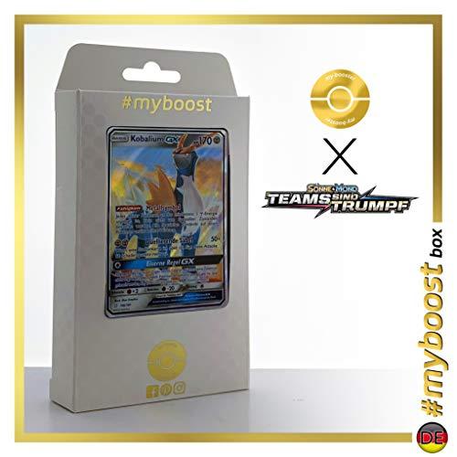 Kobalium-GX (Cobalion-GX) 106/181 - #myboost X Sonne & Mond 9 Teams sind Trumpf - Doos met 10 Duitse Pokémon-kaarten