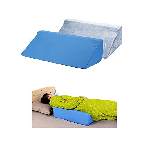 Wedge Pillows for Sleeping Foam Bed Wedges Body Positioners 30 Degree Incline Pillow for Adults, Side Sleeping, Back Pain, Medical Elevated Bolster Positioning Wedge (1 Pillow + 2 Cover)