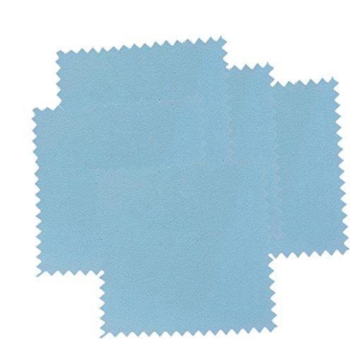 5pcs útiles de plata paño de pulido de plata esterlina limpiador de la joyería anti oscurecimiento Color aleatorio