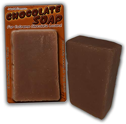 Chocolate Soap Chocolate Scented Bar Soap Funny Unisex Spa Gags for Women Men Chocolate Gags Secret Santa White Elephant Stocking Stuffers Novelty Soap Wife Friend Girlfriend
