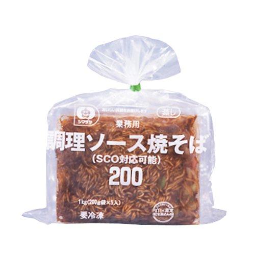 シマダヤ 調理焼そば 200g 5個 袋【冷凍】