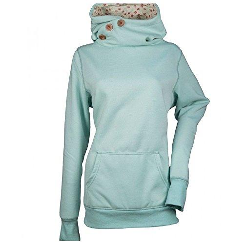 KINDOYO Femme Automne Hiver Sweat à Capuche Imprimé Manches Longues Sweater Casual Pull Sweat-Shirt (Vert)