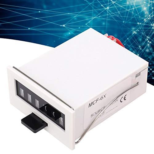 Contador de pulsos electromagnético, contador de pulsos ABS MCF-6X portátil, conveniente defensa nacional para maquinaria textil de petróleo