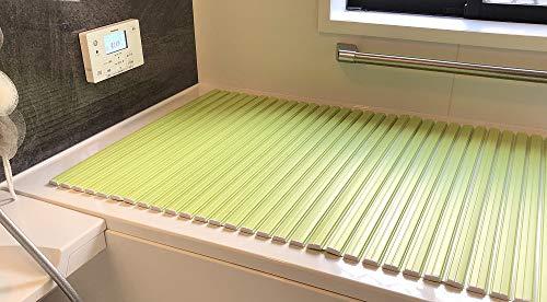 風呂蓋折りたたみ式シャッター風呂ふたグリーン80×140cmフロフタフレッシュ抗菌防カビ加工