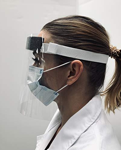 Exacompta 80358DE Schutzvisier / Gesichtsschutz ExaScreen, 31,5 x 19,5cm, sicher und praktisch, ideal gegen Übertragung von Viren und Bacterien, Glasklar, 1 Stück