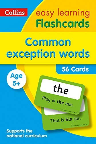 Common Exception Words Flashcards: Prepare for school with easy home learning (Collins Easy Learning KS1) (English Edition)