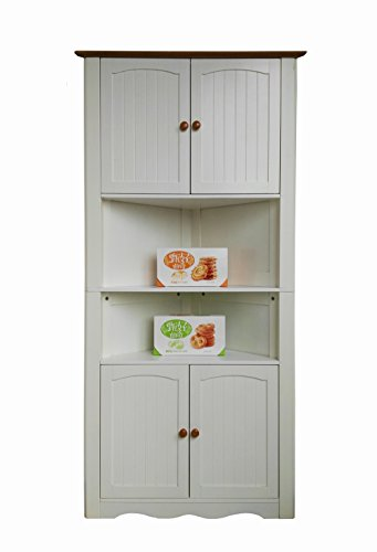 Homecharm-intl 31.1x15.74x63.78-Inch Corner Cabinet ,White(HC-003A)