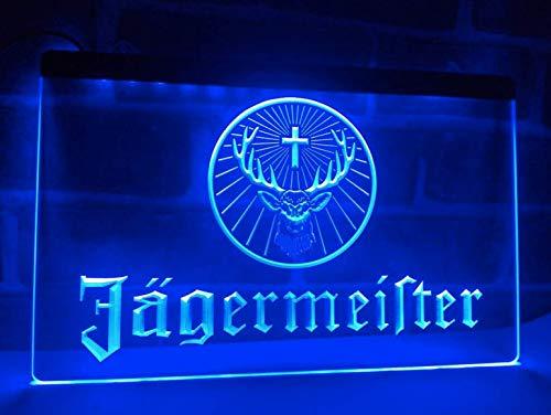 Deutsch Likör und Spirituosen Neon LED Zeichen Werbung Neonschild Blau by LEDHouse
