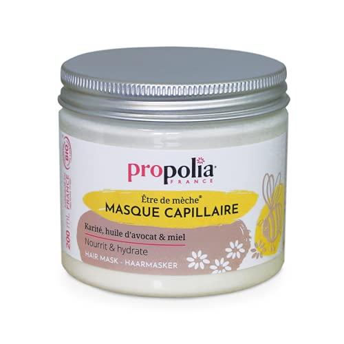 Propolia – Bio – Masque Capillaire / Karité / Huile d'Avocat / Miel – Nourrit et hydrate les Cheveux – 200 ml