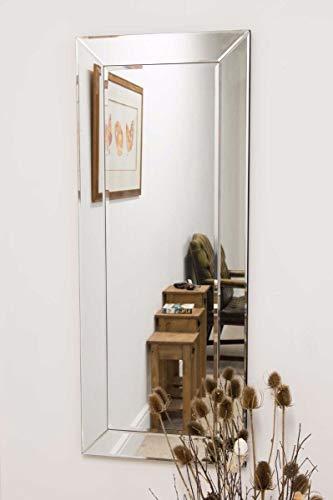 Espejo de Pared Grande de un Solo Borde Veneciano Moderno de Vestido, 3Ft10 X 1Ft6 (117 cm x 46 cm)