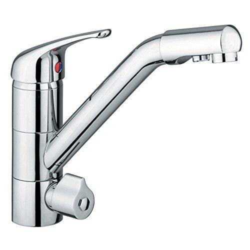 sanquell Grifo para eSpring Amway   Siena cromado   Grifo de cocina de 4 vías para filtro de agua potable