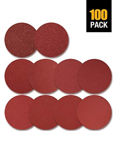 SATC 100 PCS PSA Sanding Discs 6 Inch Adhesive Backed 60-1000 Grits Aluminum Oxide Self Stick Sandpaper for Random Orbital Sander