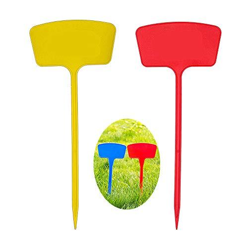 LSTC Etiquetas para Plantas Impermeable Planta Etiquetas Planta Gruesa Etiquetas Durable Planta de plástico Etiquetas de Plantas para Semillas Random Color,14.17inch