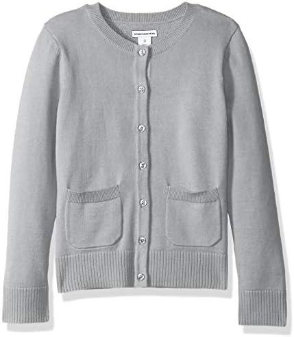 Amazon Essentials Big Girls Uniform Cardigan Sweater Light Heather Grey XL product image