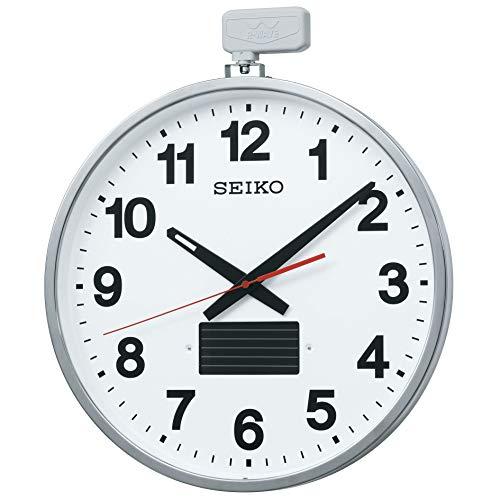 セイコー クロック ソーラー 屋外用 大型 電波 掛け時計 527×450×78 金属枠 SF211S SEIKO