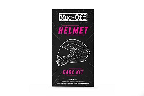 Muc-Off Kit Nettoyage Moto - Comprend Le Nettoyant Moto Mousse, Un Nettoyant Casque Moto, Visière et Lunettes, Un Antibuée et Un Chiffon en Microfibres - pour Motos et Vélos 615 Taille Unique
