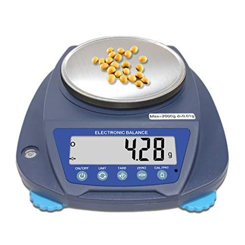 CHICTI Balanza Analítica Digital, Balanza Electrónica Precisa 0.01g para Laboratorio Farmacia Joyería Planta Química Plato Pesaje Grande Pequeño (Size : 3000g/0.01g)