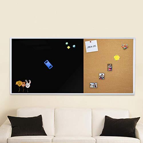 YaGFeng Albo Bollettino Bordo Gesso Scrittura Lavagna Ufficio Ufficio Famiglia Telaio in Legno Message Board Scheda Display Asilo Adatto per Ufficio E Casa (Colore : Silver, Size : 90x120cm)