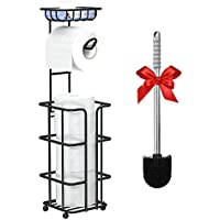 Hokyzam Toilet Paper Holder with Shelf and Dispenser