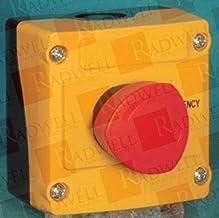 BACO CONTROLS LBX10510 RED, 22MM, Maint W/ 1 NC + Emergency Stop, Control Station, 40MM, P-T Mushroom