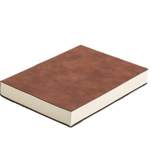 Linjolly Cuaderno de piel sintética en blanco para cuaderno, tapa dura, engrosada, A5, beige, impermeable a la tinta, para mujeres de negocios, oficina, aprendizaje de dibujo