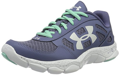 Under Armour Women's Micro G Engage Big Logo 2, Aurora Purple (767)/White, 8 (Under Armour 4d Foam Micro G Womens)