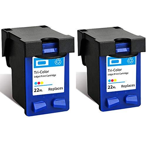 Cartucho de tinta 22XL 702XL, repuesto de alto rendimiento para impresora HP Deskjet 3910 D1311 F2120 Officejet J3508 J3606 J3608 J5508 tinta negra y tricolor 2 tricolor