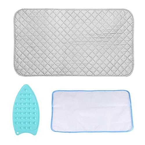 Ohomr Manta Planchado Mat Plancha de Tela de Malla Scorch Caliente Resistente Placa de Silicona Hierro Resto del cojín para 3pcs de Mesa