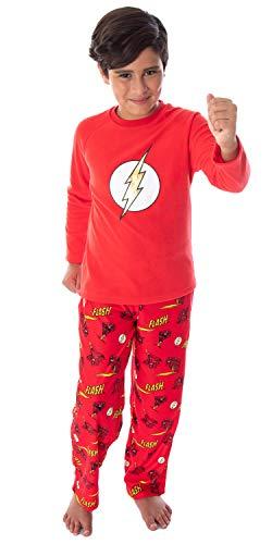 DC Comics Boys' The Flash Superhero Fleece Long Sleeve Raglan Shirt...
