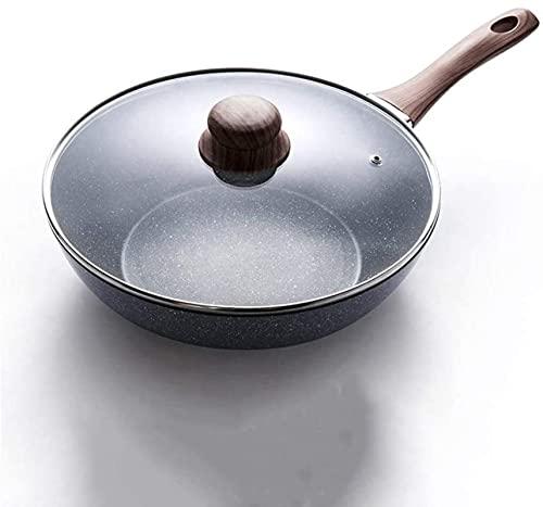 TINGFENG Wok Hogar Non-Stick Cocinar Pozo Pequeña Pequeña Inducción Cocina Especial Cocina Pot Bote (Size : A)
