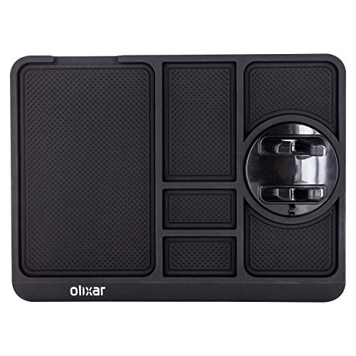 Olixar Car Dashboard Tray - Sticky Dash Mat Car Phone Holder with Mount - Large Non Slip Gel Pad - Washable - Car Dashboard Accessories - Holder for Keys, Cell Phone, Coins and Glasses