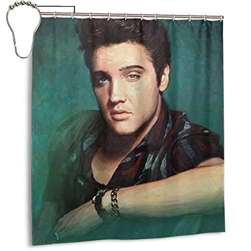 Shower Curtains Elvis Aaron Presley (3) 66 X 72 Inch Fashionable, Lightweight, Waterproof, Mildew Proof Processing, Quick-Drying Bathroom Supplies