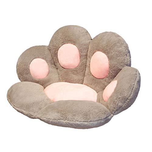 WSTERAO Orthopedisch aambeien zitkussen winter pluche kat klauw kussen creatief pluche poot kussen zitring werkt pijnverlichtend cadeau voor volwassenen en kinderen