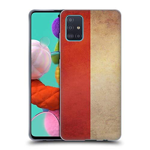 Head Case Designs Indonesia Indonesisch Vintage Fahnen 6 Soft Gel Handyhülle Hülle Huelle kompatibel mit Samsung Galaxy A51 (2019)