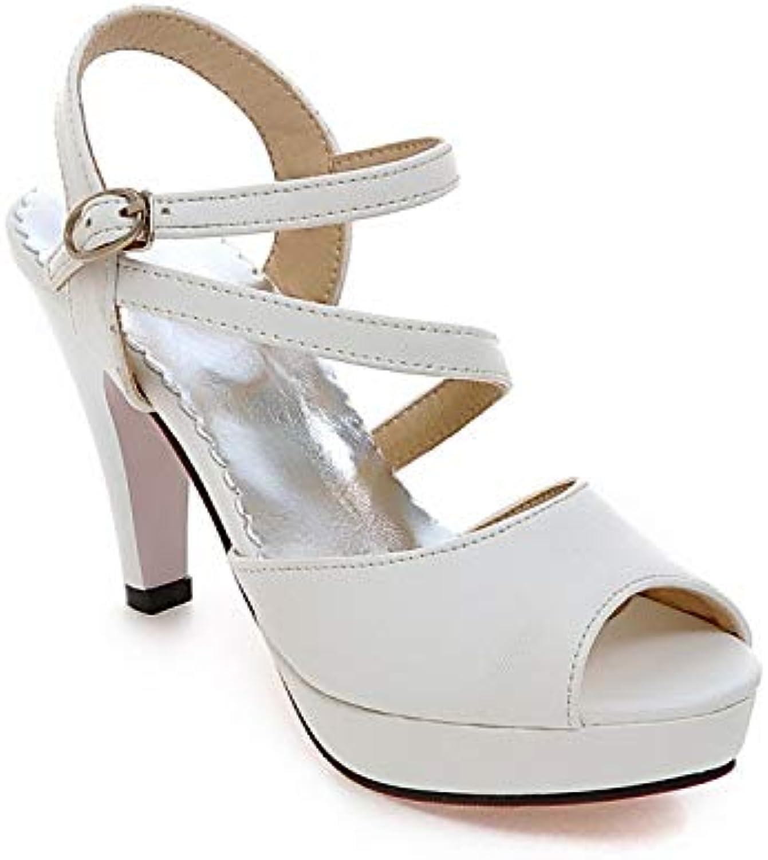 MENGLTX High Heels Sandalen Plus Groe Gre 34-46 Sandalen Damen Dame Mode Kleid Schuhe High Heel Schuhe Frauen Pumps