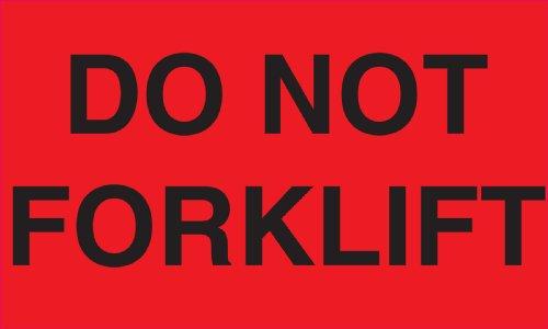 "Ace Label Aufkleber, vorgedruckt mit ""Approved"", 12,7x 7,6cm (5 x 3 Zoll), Grün/Schwarz, 500 Stück Gabelstapler nicht ansetzen (Do Not Forklift) rot/schwarz"