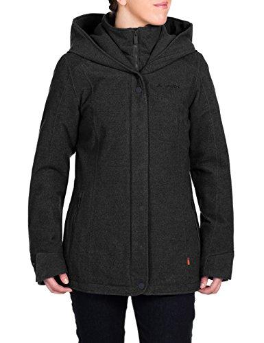 VAUDE Damen Jacke Camarque Parka, Black, 40 EU (Herstellergröße : 42/L), 05663