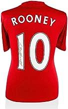 Wayne Rooney Signed Manchester United Shirt 2016/2017 Number 10 - Gold Ink Fan S - Autographed Soccer Jerseys