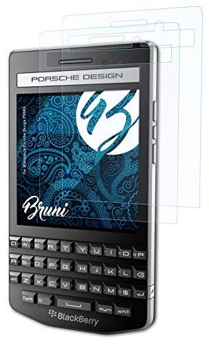 Bruni Schutzfolie kompatibel mit BlackBerry Porsche Design P9983 Folie, glasklare Bildschirmschutzfolie (2X)
