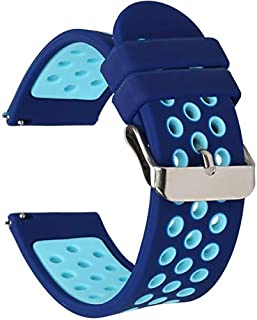 Universal 18mm 20mm 22mm 24mm Width Silicone Watch Band Replacement, Choose Size and Color