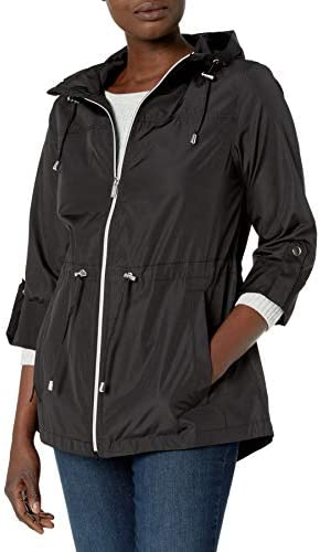 Jones New York Women s Packable Parka Coat Black L product image